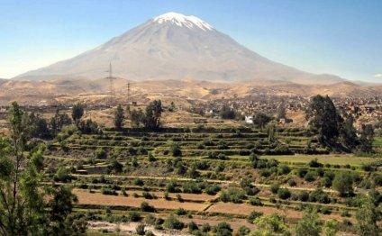 The El Misti volcano, Peru