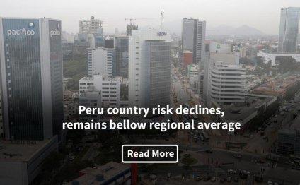 Peru country risk declines