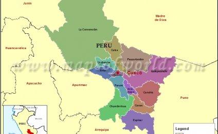 Map of Cusco Region