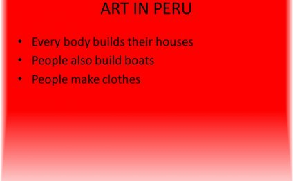 ART IN PERU Every body builds