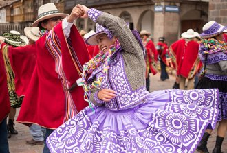 Cusco hosts its version of Carnival, a yearly gathering of harvest and fertility, in February. (Photograph by Erika Skogg)