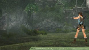Image titled Defeat the Tyrannosaurus Rex in Tomb Raider Anniversary action 1