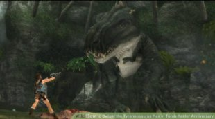 Image titled Defeat the Tyrannosaurus Rex in Tomb Raider Anniversary action 2