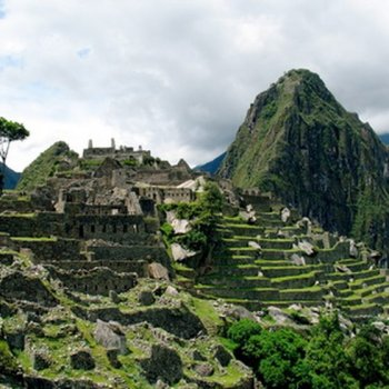 almost a half million people visit Machu Picchu annually.