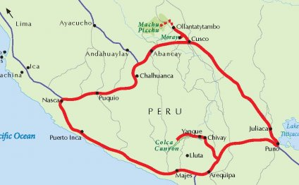 Peru Travel Map