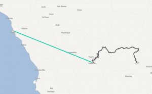 Distance from Lima Peru to Machu Picchu