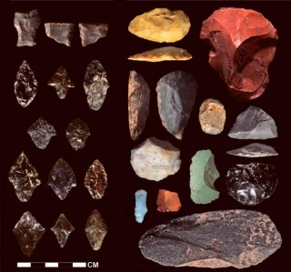 Stone resources bought at Cuncaicha and Pucuncho internet sites in Peru. Image credit: Kurt Rademaker et al.