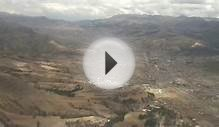 approach and landing at Cusco,Peru